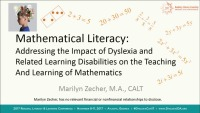 Mathematical Literacy: Creating Instructional Models That Meet the Needs of Students With Dyslexia and Related Learning Disabilities