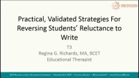 Practical, Validated Strategies for Reversing Students Reluctance to Write